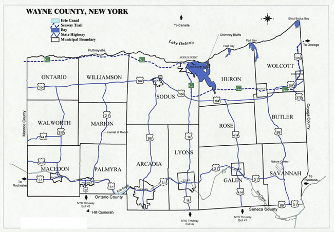 Wayne-County-new-york-Map-700