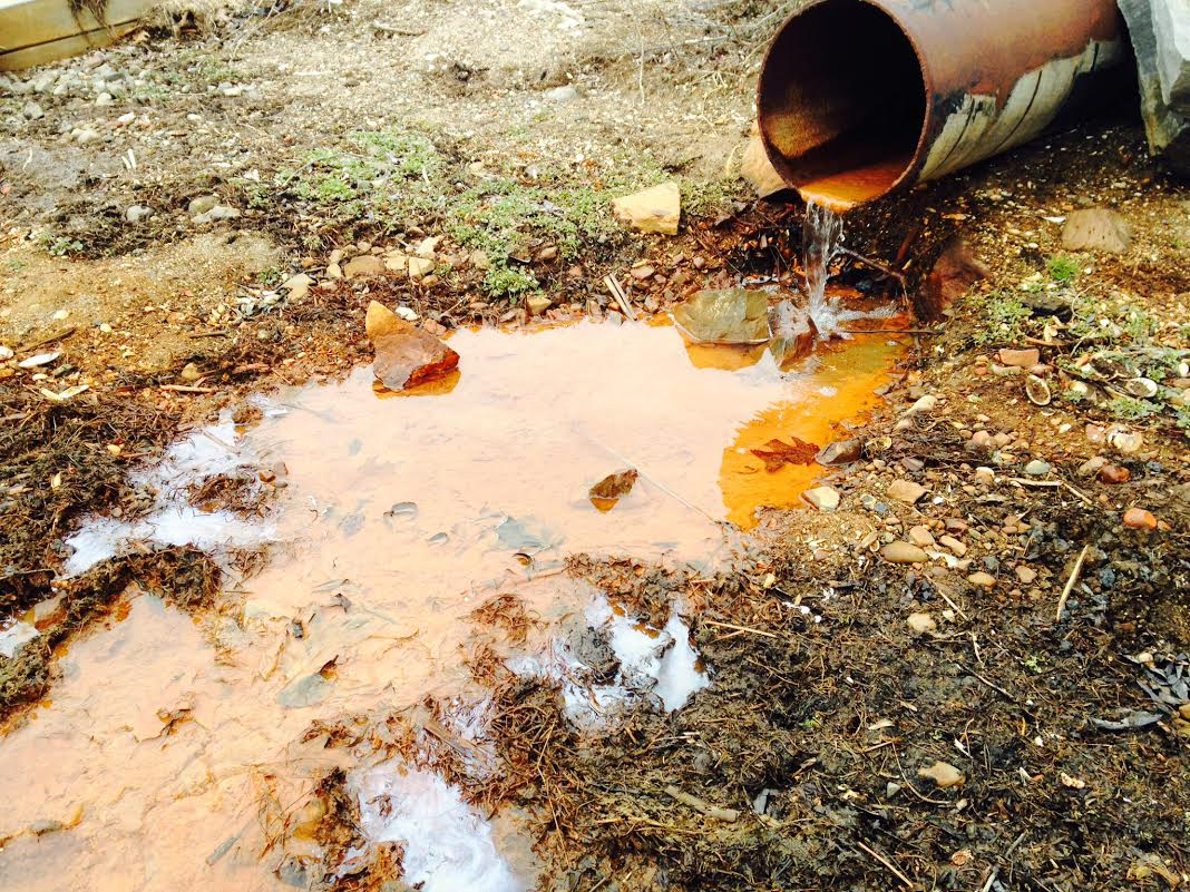 """Non Point Source pollution entering into Sodus Bay/ from 24"""" drain on South Ontario Street, Sodus Point, NY"""